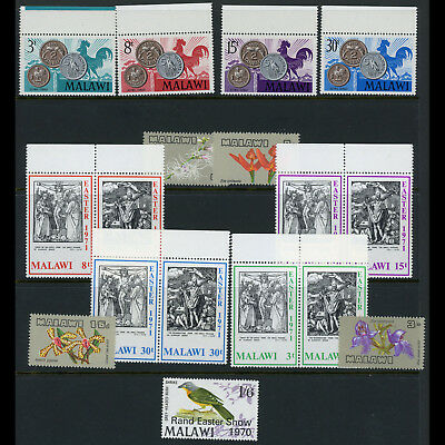 MALAWI 1969-71 Flowers, Easter, Currency. SG 329-332 370-373 388-395 MNH (AT484)