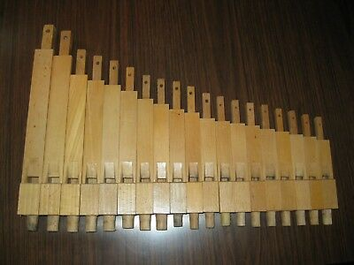 19 Modern era, Stopped Flute Pipes, 5 to 18 inch length,  Well Made