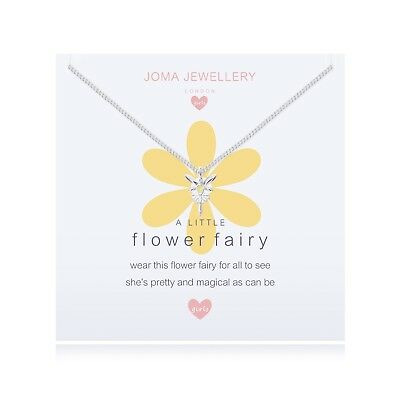 Joma Jewellery Girls Flower Fairy Silver plated Necklace CHILDRENS gift idea