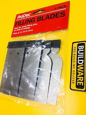 PRODEC FILLING BLADES PACK OF 4 WITH SIZE 5,8,10 & 12cm