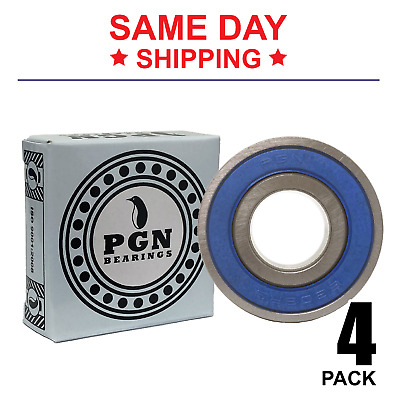 ABEC3+ qty 4 IB 6001 RS 6001 2RS PREMIUM SEALED BEARINGS 12x28 6001 RS C3