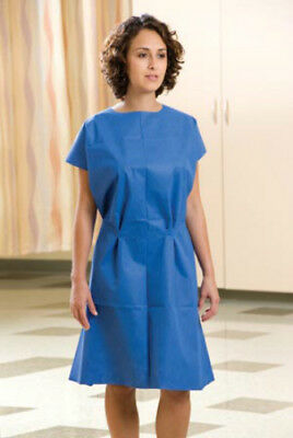 Graham Medical Exam Gown, Disposable, Nonwoven, 30 x 42 Inch, Blue (Case of 50)