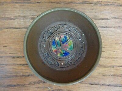 BEAUTIFUL ANTIQUE Liberty Art Nouveau COPPER & ENAMEL BOWL