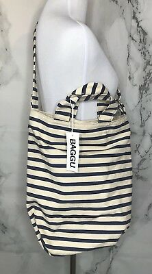 BAGGU NWT Recycled Cotton Canvas Everyday Tote Duck Bag Sailor Stripe