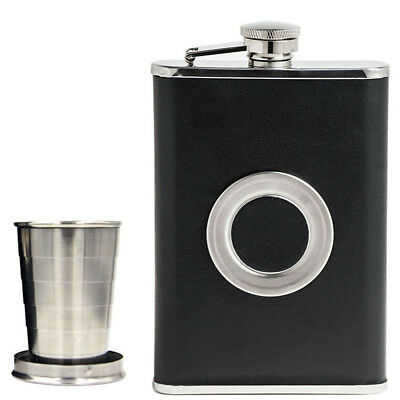 Collapsible SHOT Glass Alcohol Black Wine Pot Wine Bottle Hip Flask Flagon