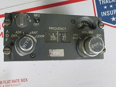 Collins ADF Aircraft Control Panel 522-2357-018 Rebuilt with Airworthiness Tag
