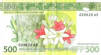 French Pacific Territories 500 Francs 2014 UNC Pick 5 CFP Oceania South