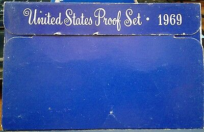1969-S United States MInt Proof Set with Kennedy Half Dollar