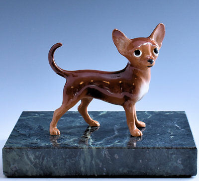 Hagen Renaker Pedigree Dog Chihuahua Brown - New - Item # 04025BRN Dark