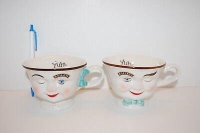 Bailey's Irish Cream His & Hers Yum Winking Faces Cups Mug Limited Edition Pair