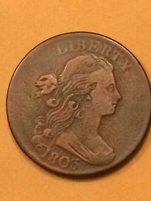 1803 Draped Bust Large Cent.   Nice