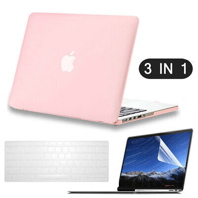 Baby Pink Girl Rubberized Hard Shell Case+KB Cover+LCD for Macbook Air/Retina 13