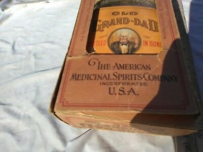 XxX Rare1931Old Grand Dad whiskey Pint Bottle w/Box & scrip from Dr,for Medical