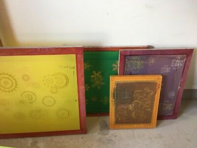 Silk Screen Lot (metal and wood)