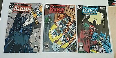 batman # 433,434,435 , 1989 part 1-3