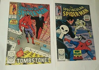 the  spectacular spiderman # 142, 143  punisher