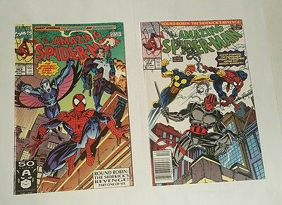 amazing spiderman # 353, 354  high grade