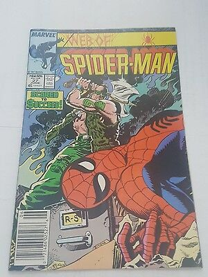 web of spiderman # 27, 1987  newsstand edition