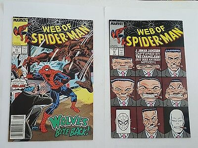 web of spiderman # 51 , 52
