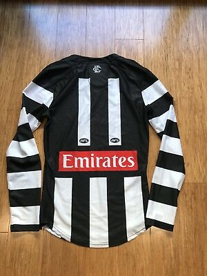 Collingwood Magpies 2017 Blair Afl Player Issue Jumper Guernsey Long
