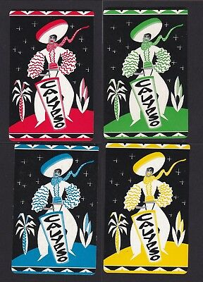 """Vintage Art Deco Foursome - """"calypso"""" - Four(4) Singles - All In Mint Condition."""
