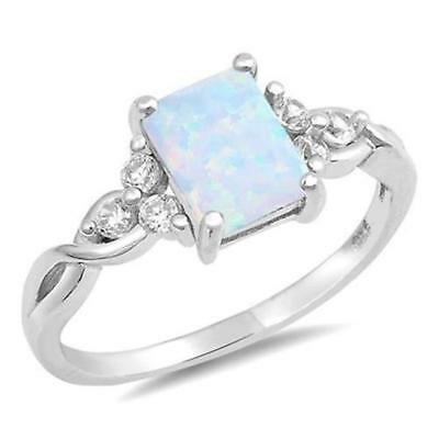 COCKTAIL ~ Simulated Opal Genuine STERLING SILVER RING ~ Size 7 8 9 10 / O Q S U