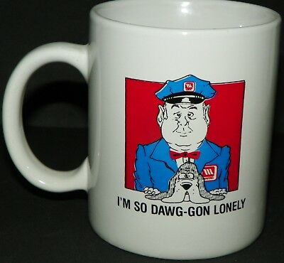 Maytag White Coffee Cup Mug I'm So Dawg-gon Lonely Advertising