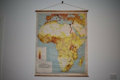 Collection of 1950's large vintage school maps