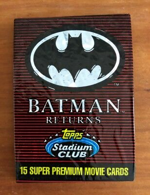 1992 Topps Batman Returns (Stadium Club) - Wax Pack