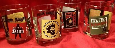 BORN to RUM CaPtAiN MoRgAn 4 Original Spiced Rum TUMBLERS Awesome! rAtEd AARGH!
