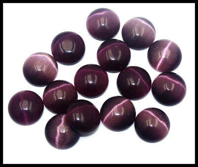 85.00Ct EGL Certified 15Pcs Violet Cats Eye Chrysoberyl Gemstone Lot AW2973