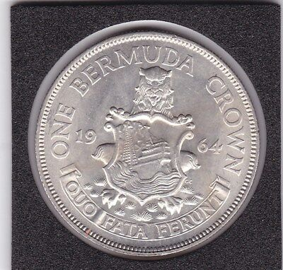 1964   Bermuda  Crown  -  Silver   Coin