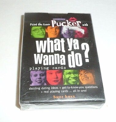 "NEW SEALED - Pucker Schnapps Deck of Playing Cards ""What ya Wanna Do?"" Dekuyper"