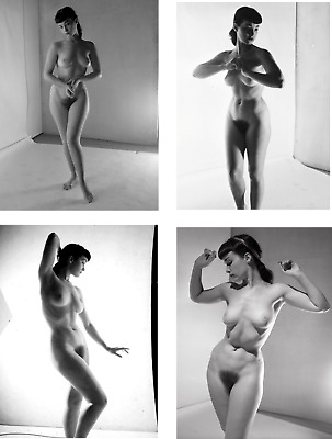 BETTIE PAGE JOB LOT SET 10 PHOTOS 7 X 5 HOT 1950s NUDE BUSTY PIN UP ROCKABILLY