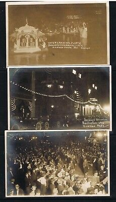 shriners convention  ROCHESTER NY 3 diff postcards [newman photo]