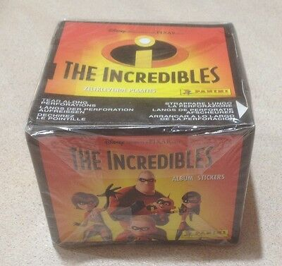 2004 Panini Disney's The Incredibles Stickers - Factory Sealed Box (50 Packs)