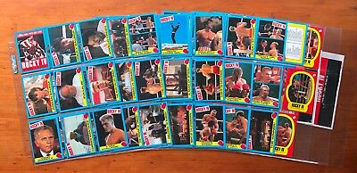 1985 Topps Rocky IV (4) - Complete Set of 66 Cards + 11 Stickers + 2 Wrappers