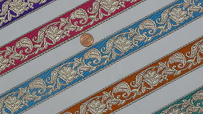 """1.50"""" (3.81 Cm) wide By The Yard Jacquard Trim Woven Border Sew Ribbon T923"""