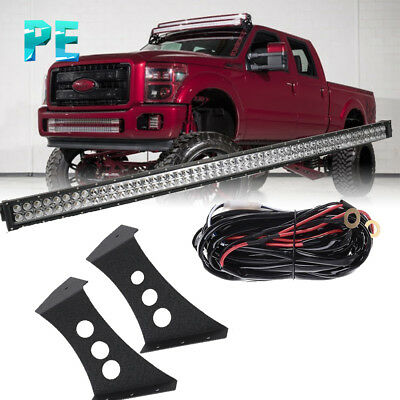 """50 """" Led Light W/ upper Mounting Brackets  For 2000 Ford F250 /350 Super Duty"""