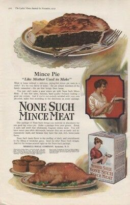1919 None Such Mince Meat Pie Food Breakfast Muffin Ad8541