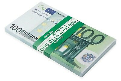 Full print double sided Euro €100, Poker Game Play Money, Banknotes, Bills