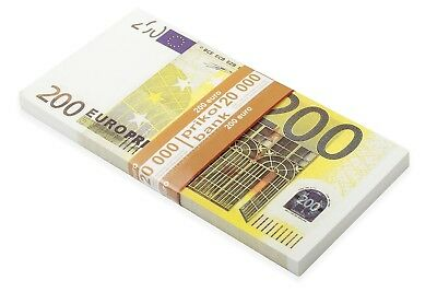 Full print Double sided Euro €200, Poker Game Play Money, Banknotes, €16000