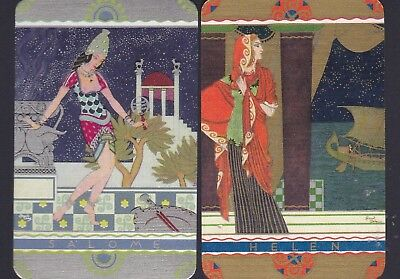 """Beautiful Vintage Pair Of Named Cards - """"salome"""" And """"helen"""" - Mint Condition"""