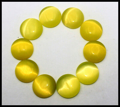120.00Ct EGL Certified 10Pcs Yellow Cats Eye Chrysoberyl Gemstone Lot AW2972
