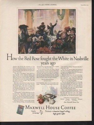 1925 Maxwell House Coffee Horse Political Parade Roses13258