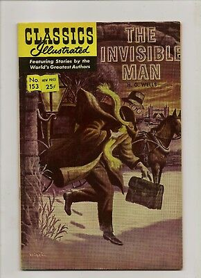 Classics Illustrated The Invisible Man No 153 September 1966