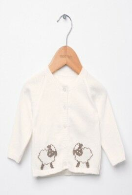 trotters baby New in unisex little lamb cardigan and pants set