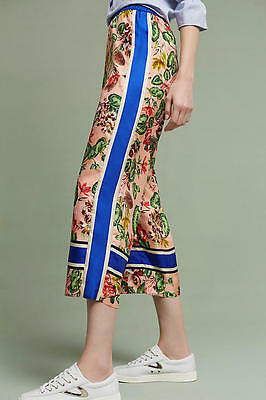 61f231bf587cb ANTHROPOLOGIE GARDENER SILK Wide-Legs pants NWT new size SMALL ...
