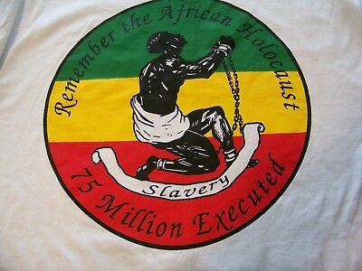 Vtg Rare 1998 MINT Condition KNOWLEDGE Of SELF Slavery AFRICAN Holocaust T-SHIRT