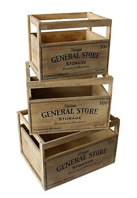 Rustic Vintage Crate Shabby Chic Wooden Apple Display Box Farm Shop